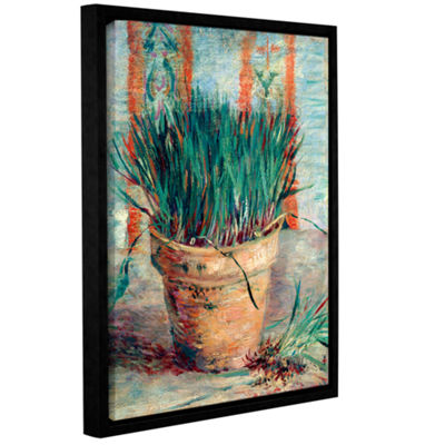 Brushstone Chives Gallery Wrapped Floater-Framed Canvas Wall Art