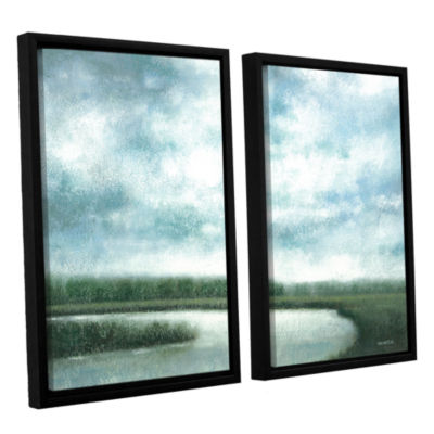 Brushstone Cloudy Day Marsh 2-pc. Floater Framed Canvas Wall Art