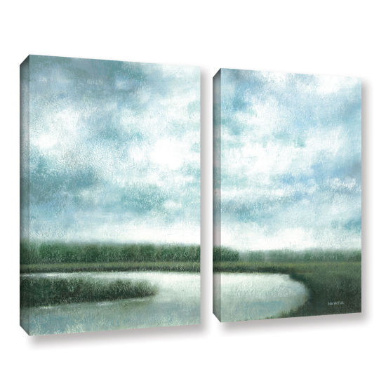 Brushstone Cloudy Day Marsh 2-pc. Gallery WrappedCanvas Wall Art