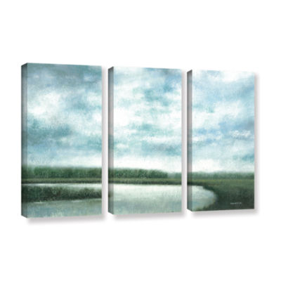 Brushstone Cloudy Day Marsh 3-pc. Gallery WrappedCanvas Wall Art