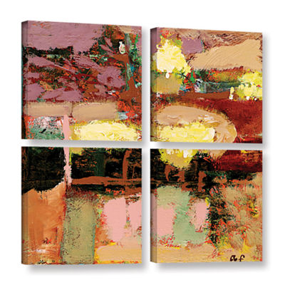 Brushstone Chop Liver 4-pc. Square Gallery WrappedCanvas Wall Art
