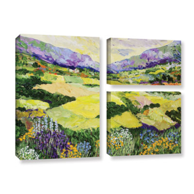 Brushstone Cool Grass 3-pc. Flag Gallery Wrapped Canvas Wall Art