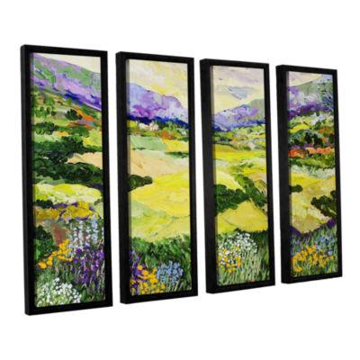 Brushstone Cool Grass 4-pc. Floater Framed CanvasWall Art