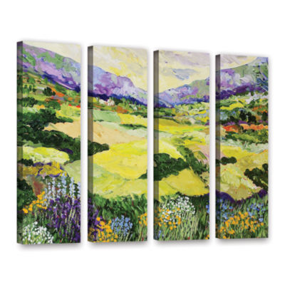 Brushstone Cool Grass 4-pc. Gallery Wrapped CanvasWall Art