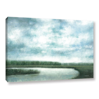 Brushstone Cloudy Day Marsh Gallery Wrapped CanvasWall Art