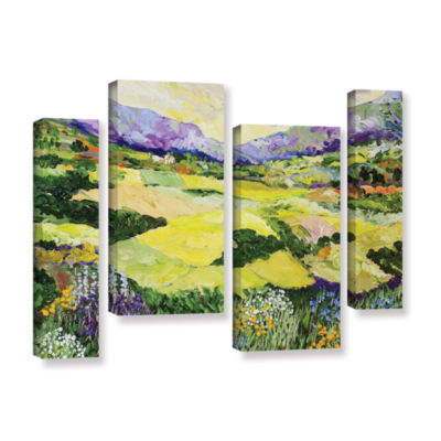 Brushstone Cool Grass 4-pc. Gallery Wrapped Staggered Canvas Wall Art