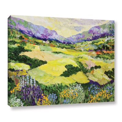 Brushstone Cool Grass Gallery Wrapped Canvas WallArt