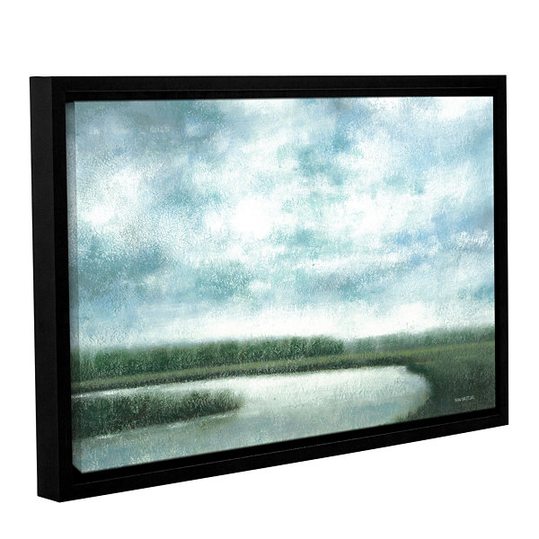 Brushstone Cloudy Day Marsh Gallery Wrapped Floater-Framed Canvas Wall Art