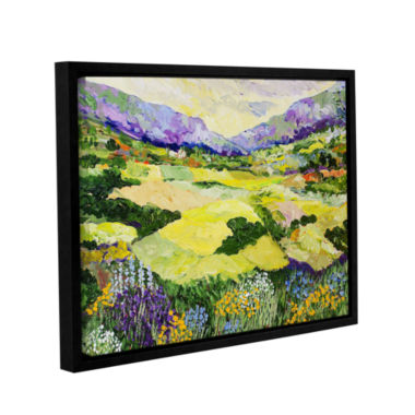 Brushstone Cool Grass Gallery Wrapped Floater-Framed Canvas Wall Art