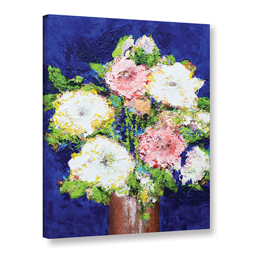 Brushstone Cool Melody Gallery Wrapped Canvas WallArt