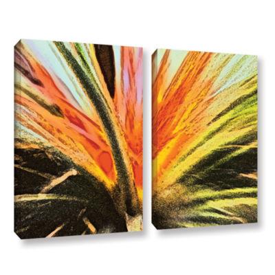 Brushstone Christmas Cactus 2-pc. Gallery WrappedCanvas Wall Art
