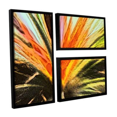 Brushstone Christmas Cactus 3-pc. Flag Floater Framed Canvas Wall Art