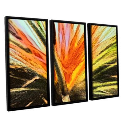 Brushstone Christmas Cactus 3-pc. Floater Framed Canvas Wall Art