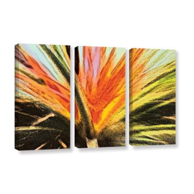 Brushstone Christmas Cactus 3-pc. Gallery WrappedCanvas Wall Art