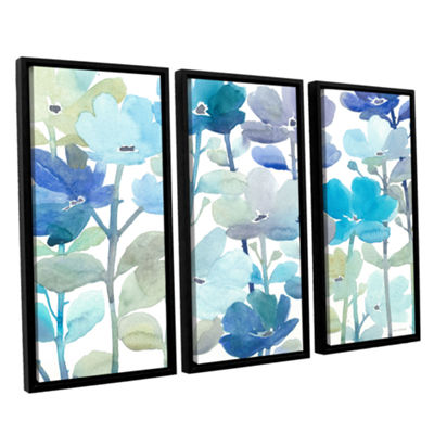 Brushstone Cool Morning Breeze 3-pc. Floater Framed Canvas Wall Art