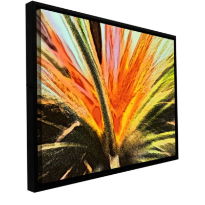 Brushstone Christmas Cactus Gallery Wrapped Floater-Framed Canvas Wall Art
