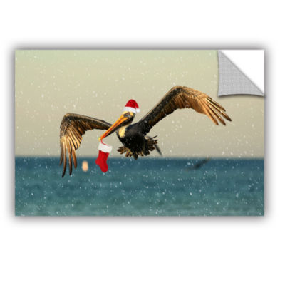 Brushstone Christmas Pelican 1 Removable Wall Decal