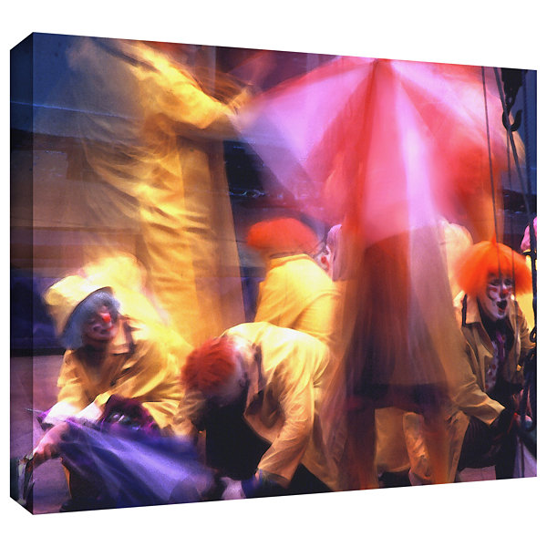 Brushstone Clowns In Fire Drill Gallery Wrapped Canvas Wall Art