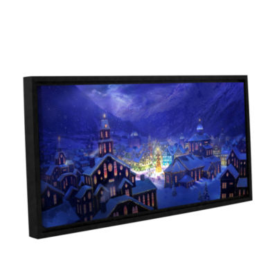Brushstone Christmas Town Gallery Wrapped Floater-Framed Canvas Wall Art
