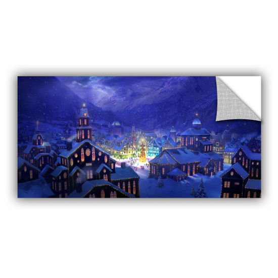 Brushstone Christmas Town Removable Wall Decal