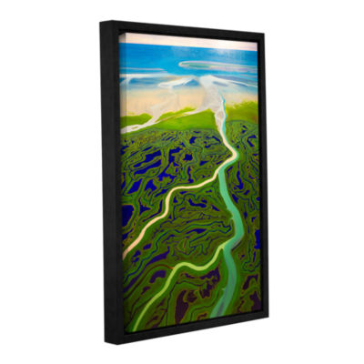 Brushstone Copper River Gallery Wrapped Floater-Framed Canvas Wall Art