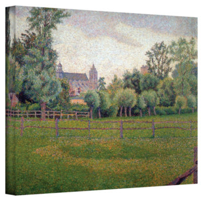 Brushstone Church At Gisors Gallery Wrapped CanvasWall Art