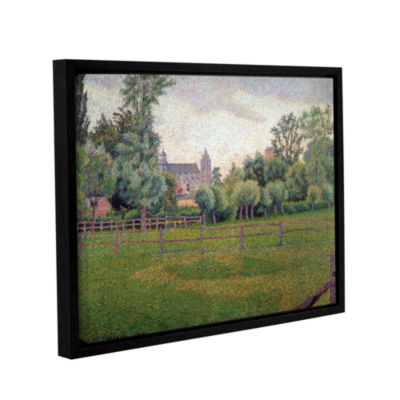 Brushstone Church At Gisors Gallery Wrapped Floater-Framed Canvas Wall Art
