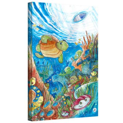 Brushstone Coral Dreams Watercolor Gallery WrappedCanvas Wall Art