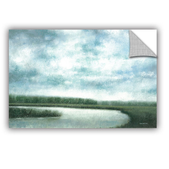 Brushstone Cloudy Day Marsh Removable Wall Decal