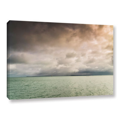 Brushstone Cloudy Sky Over The Sea Gallery WrappedCanvas Wall Art