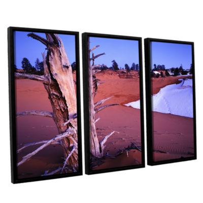 Brushstone Coal Dunes Dusk 3-pc. Floater Framed Canvas Wall Art