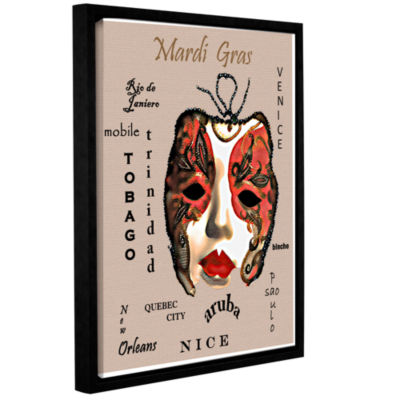 Brushstone Cities Of Mardi Gras Gallery Wrapped Floater-Framed Canvas Wall Art