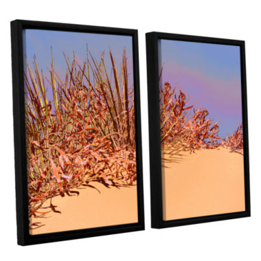 Brushstone Coral Dunes Noon 2-pc. Floater Framed Canvas Wall Art