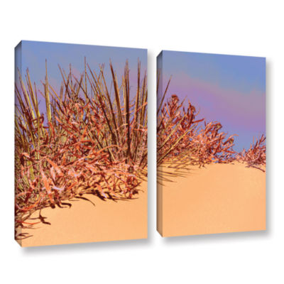 Brushstone Coral Dunes Noon 2-pc. Gallery WrappedCanvas Wall Art