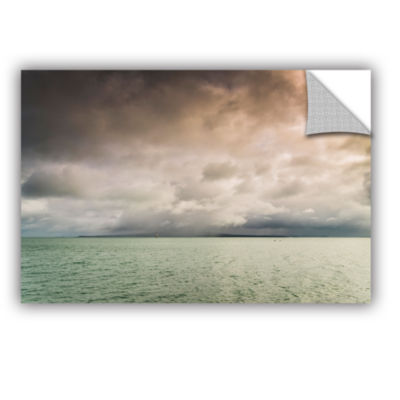 Brushstone Cloudy Sky Over The Sea Removable WallDecal