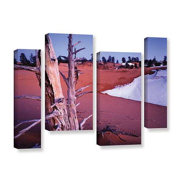 Brushstone Coal Dunes Dusk 4-pc. Gallery Wrapped Staggered Canvas Wall Art