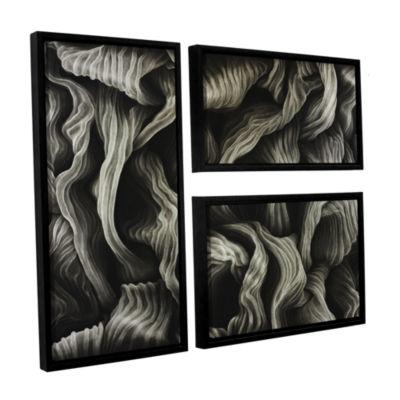 Brushstone Clover 3-pc. Flag Floater Framed CanvasWall Art