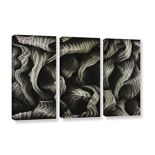 Brushstone Clover 3-pc. Gallery Wrapped Canvas Wall Art