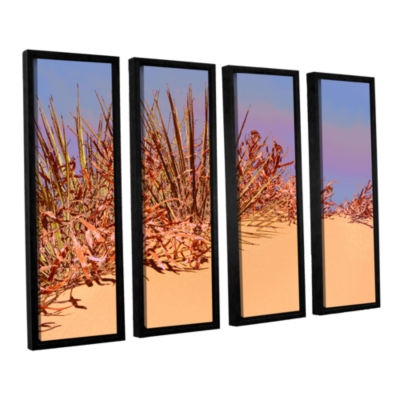 Brushstone Coral Dunes Noon 4-pc. Floater Framed Canvas Wall Art