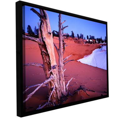 Brushstone Coal Dunes Dusk Gallery Wrapped Floater-Framed Canvas Wall Art
