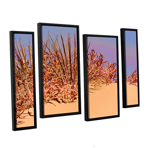 Brushstone Coral Dunes Noon 4-pc. Floater Framed Staggered Canvas Wall Art