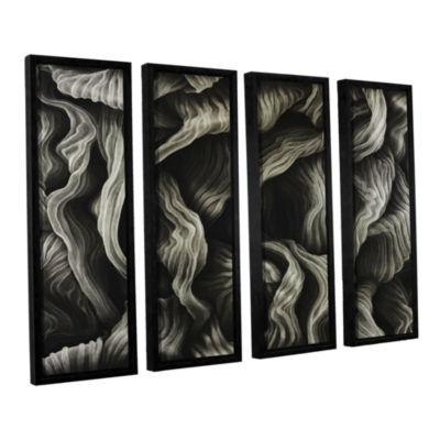 Brushstone Clover 4-pc. Floater Framed Canvas WallArt
