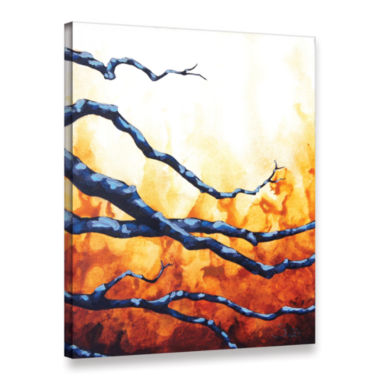 Brushstone Citrine Gallery Wrapped Canvas Wall Art