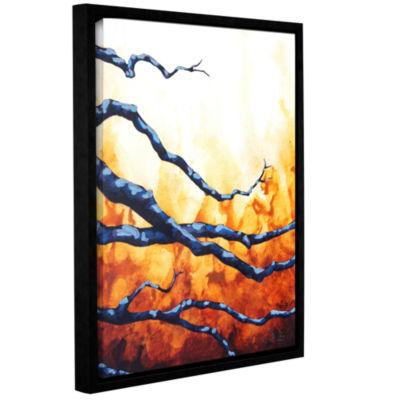 Brushstone Citrine Gallery Wrapped Floater-FramedCanvas Wall Art
