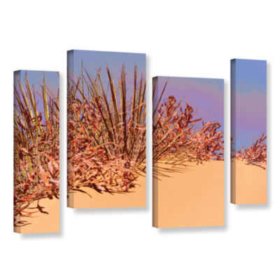 Brushstone Coral Dunes Noon 4-pc. Gallery WrappedStaggered Canvas Wall Art