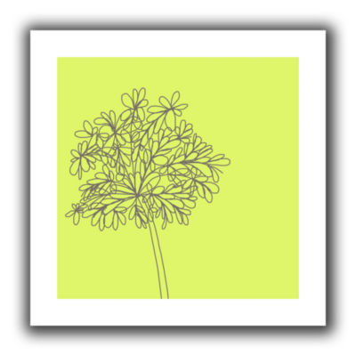 Brushstone Citron Happy Flower II Canvas Wall Art