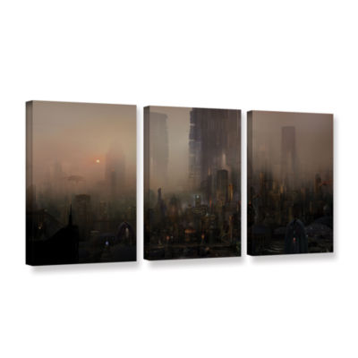 Brushstone Cohabitations 3-pc. Gallery Wrapped Canvas Wall Art