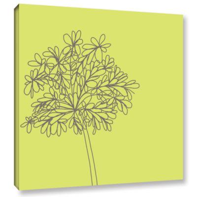 Brushstone Citron Happy Flower Ii Gallery WrappedCanvas Wall Art