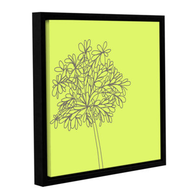 Brushstone Citron Happy Flower II Gallery WrappedFloater-Framed Canvas Wall Art