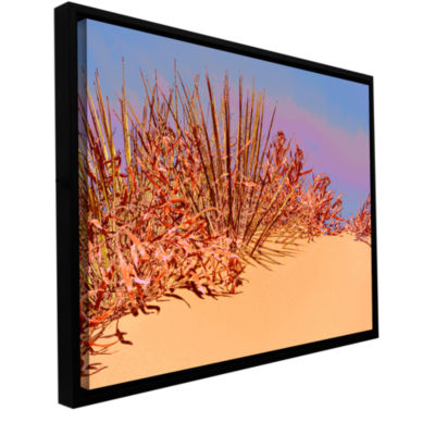 Brushstone Coral Dunes Noon Gallery Wrapped Floater-Framed Canvas Wall Art